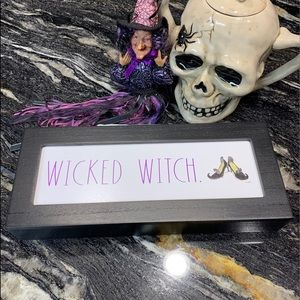 Rae Dunn ( WICKED WITCH) Wood Sign